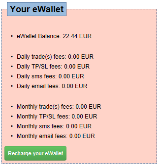 Recharge your trade-copier eWallet